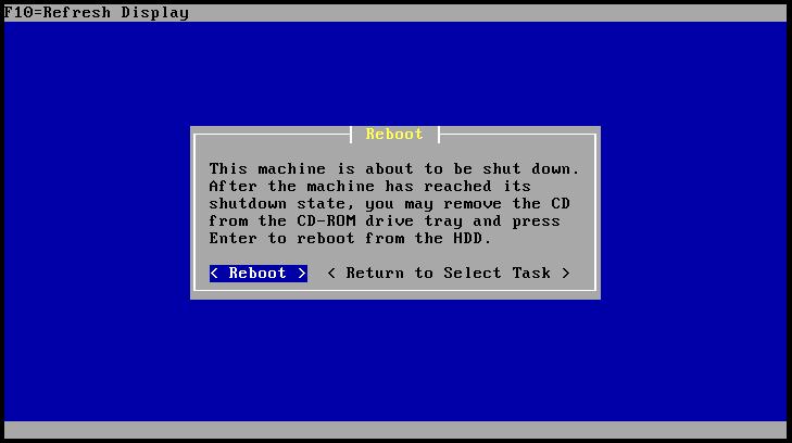 pfsense install screen shot