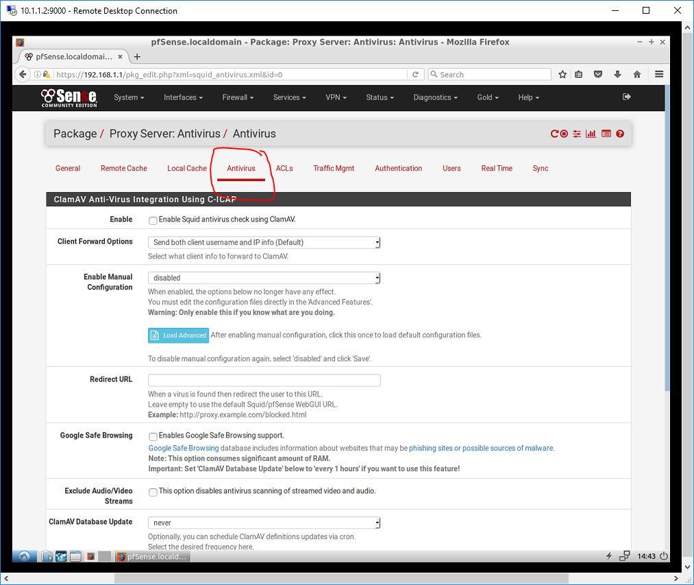 sq antivirus screenshot